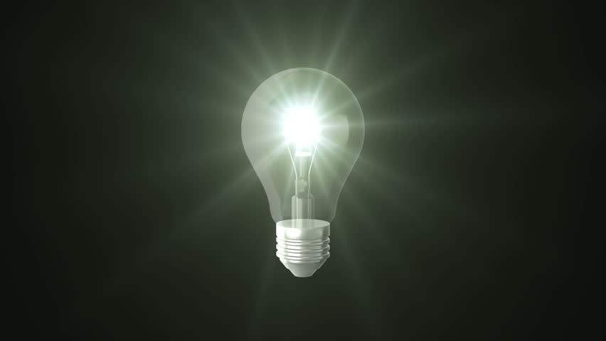 Light bulb on black background | Shutterstock HD Video #19374277