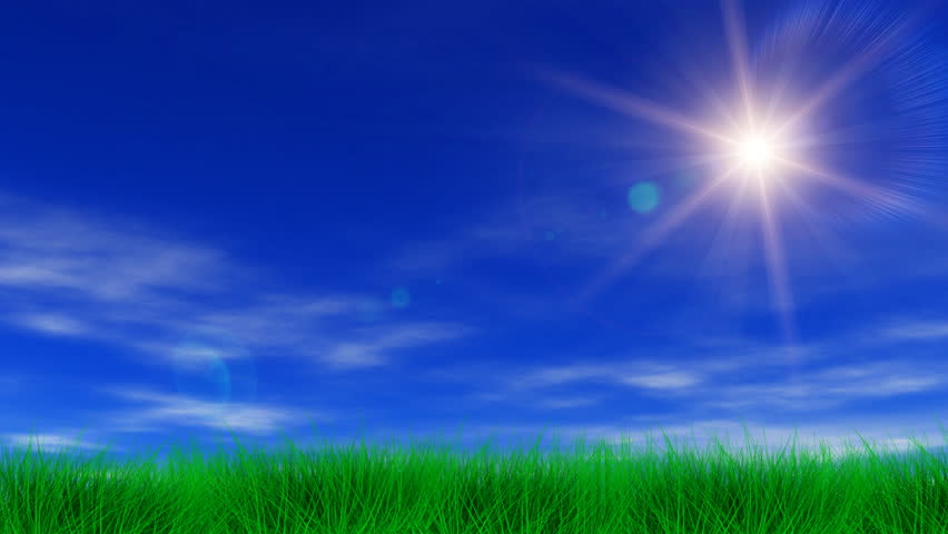 Stock Video Clip of Blue sky light clouds slight breeze and
