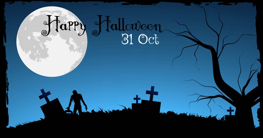 happy halloween 4k stock footage clip - Halloween Background Video