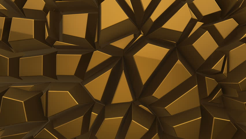 Abstract background with animation moving of dark triangles with glowing light from backdrop. Technologic backdrop with plastic surface. Animation of seamless loop.   Shutterstock HD Video #19444537