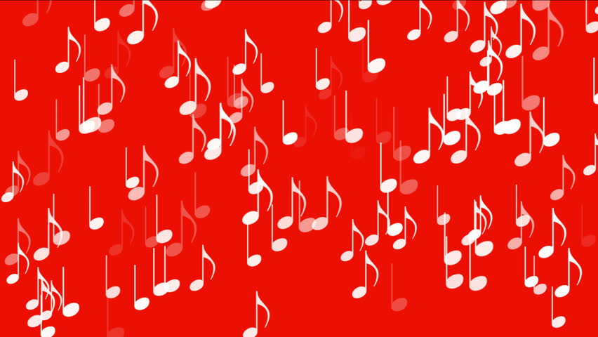 4k Music Notes Backgroundsymbols Melody Royalty Free Video