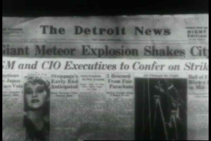 GM executives confer on a labor strike in the late 1930s. (1930s)   Shutterstock HD Video #19502047