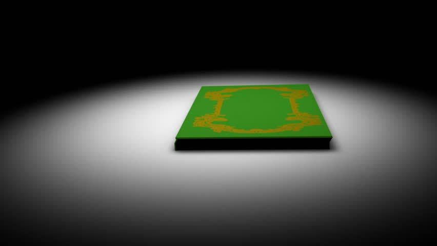 Book opening animation.