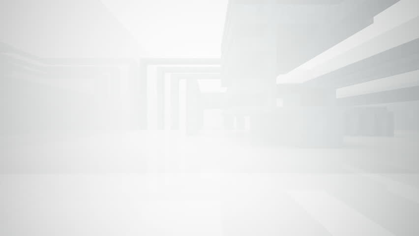 Abstract White Interior Stock Footage Video 9683297