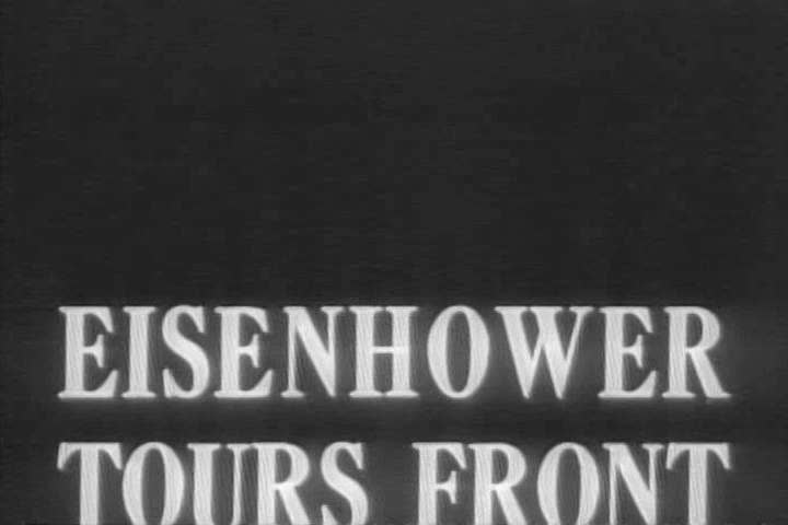 Newsreel about Eisenhower touring battle fronts during WWII. (1940s) | Shutterstock HD Video #19546567