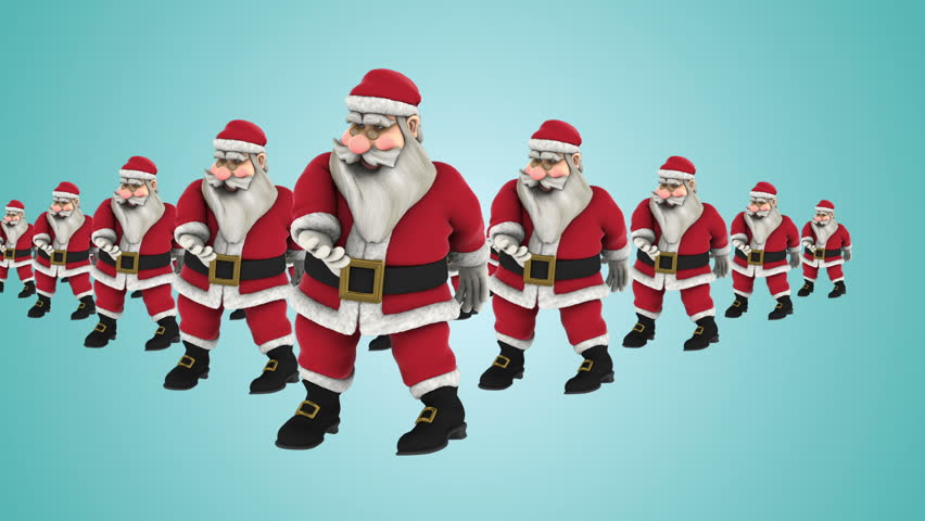 Group of Santa Claus Hip Hop Funny Dancing , Christmas dancing, Christmas Party Background. snowflakes, Full HD , 1920x1080, MOV - Photo JPEG , Have a look at the other Footage series | Shutterstock HD Video #19626505