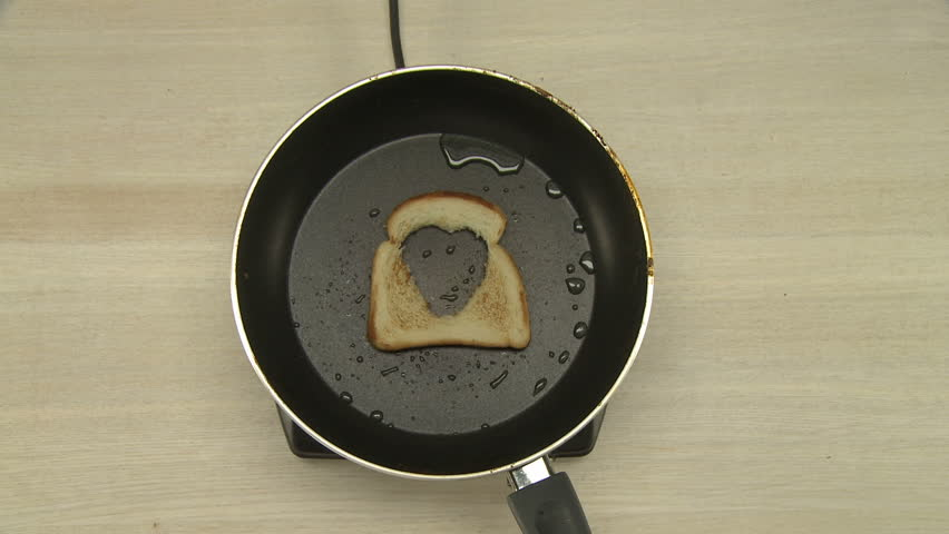 Top view of chef cooking omelet in toast | Shutterstock HD Video #19683547