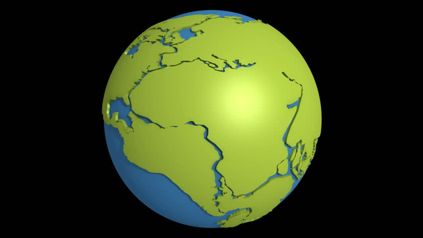 Globe with super continent pangea and sea tetis stock footage globe with super continent pangea and sea tetis hd stock footage clip gumiabroncs Images