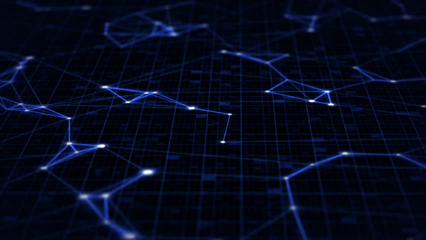 Digital Data Points of Connections on a Grid Moving Sideways in a Loop | Shutterstock HD Video #19793815