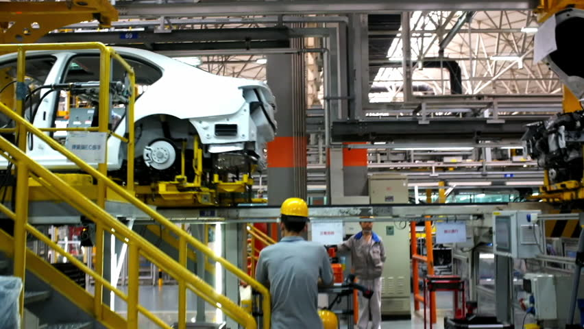Car Assembly Plant in Chengdu, China - September 19, 2014. Chengdu economic growth. State-level economic and technological development zone of Chengdu. #19811347