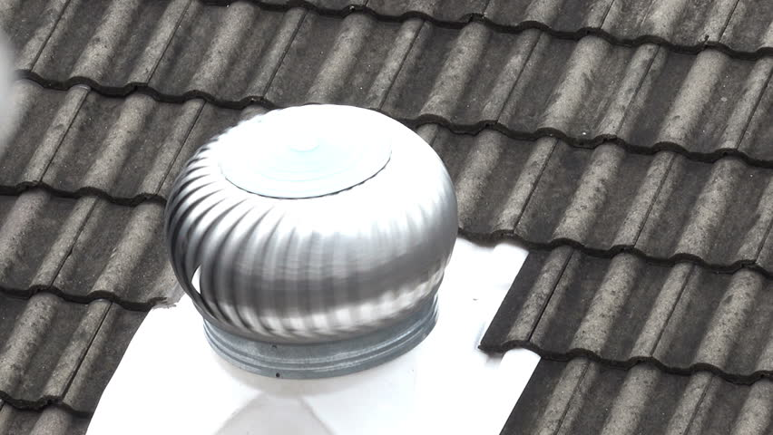 Air Ventilator On The Roof Of Factory.Natural Roof Ventilators On The Roof  Top Spinning