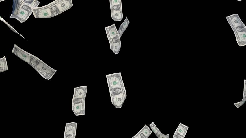 3D Animation - Rain bills on black background