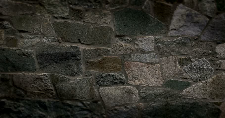 Old stone wall for use as green screen background… - Royalty