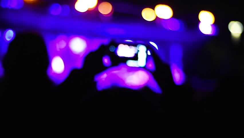 Intentionally blurred people viewing live concert - music, crowd, live concept | Shutterstock HD Video #20063797