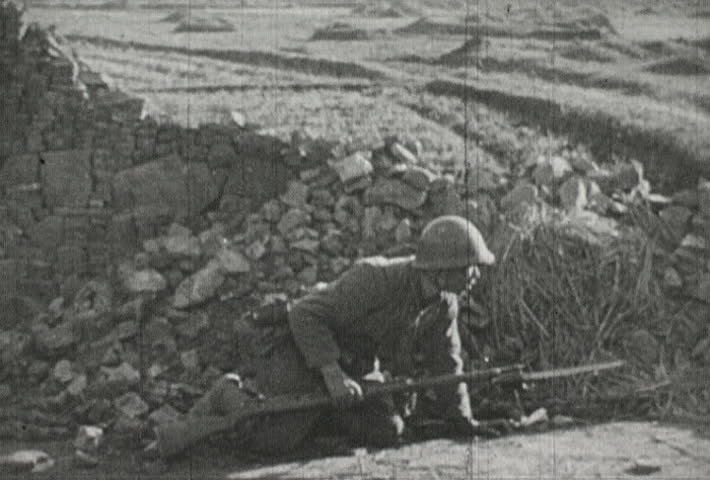 CHINA - CIRCA 1942-1944: World War II, Japanese Soldiers in the Trenches