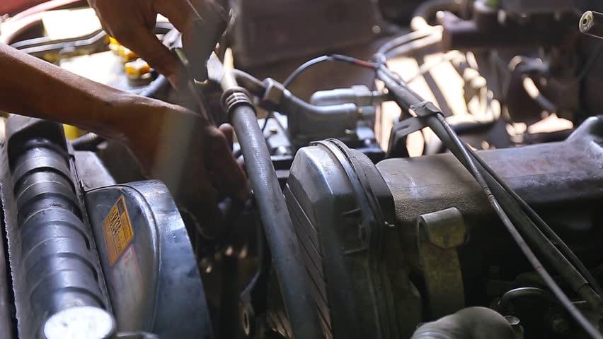 Repairing an engine   Shutterstock HD Video #20084977