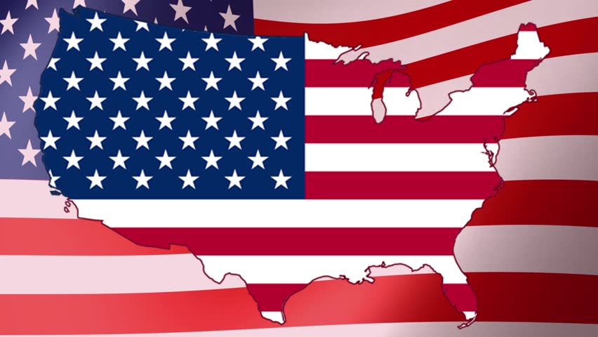 Plane Taking Off From USA Map Flag Animation Stock Footage Video