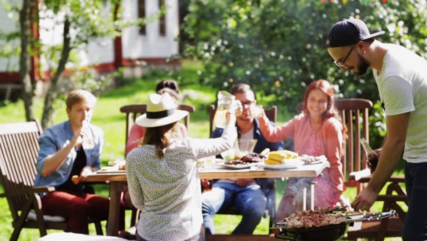 Leisure Food Eating People And Holidays Concept
