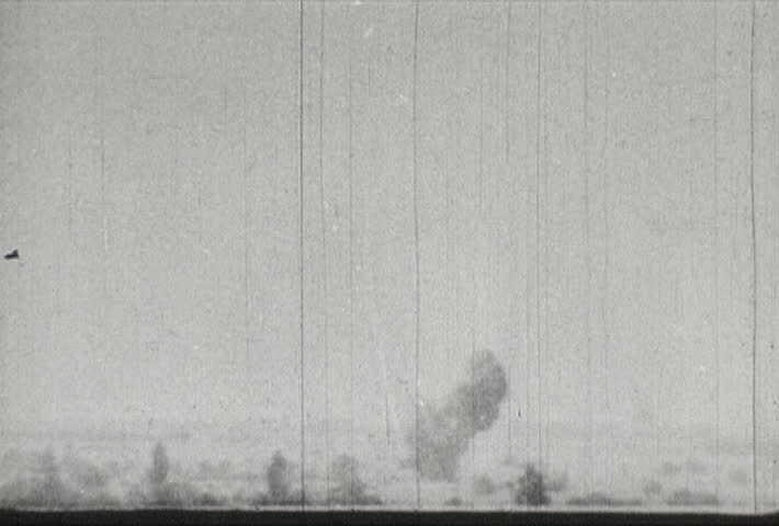 EUROPE - CIRCA 1942-1944: World War II, Nazi Dive Bomber Explosions