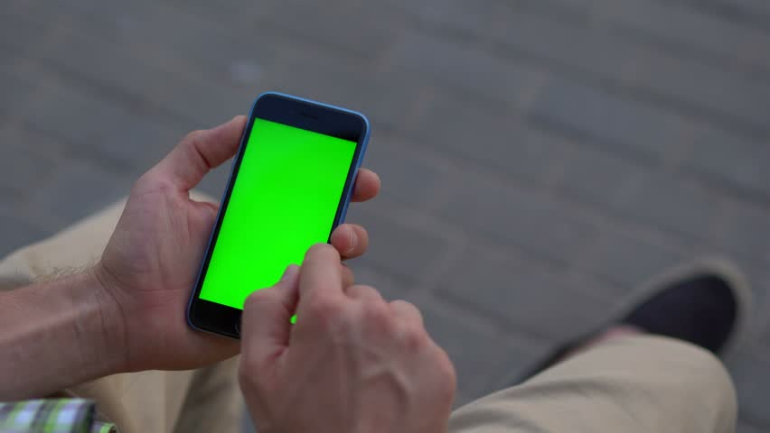 Man hand using smartphone with green screen 4K   Shutterstock HD Video #20168527