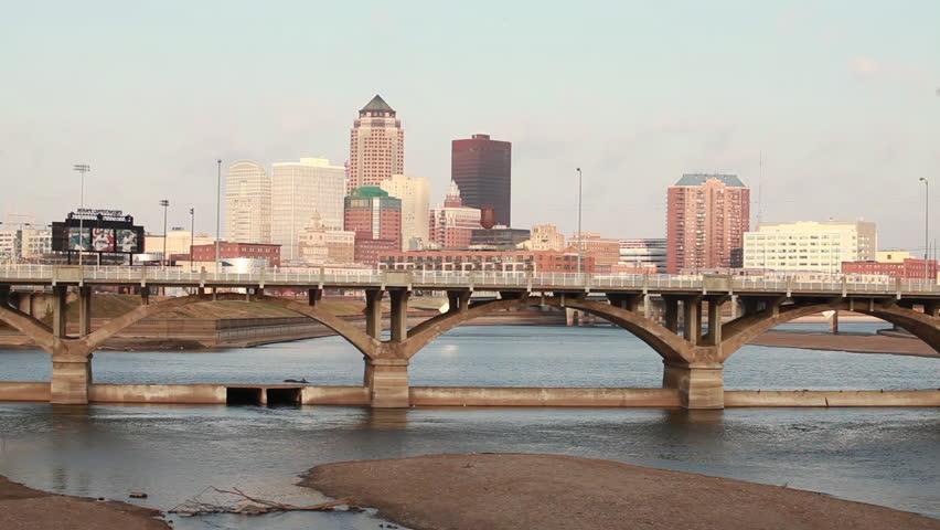 Skyline of Des Moines, Iowa.