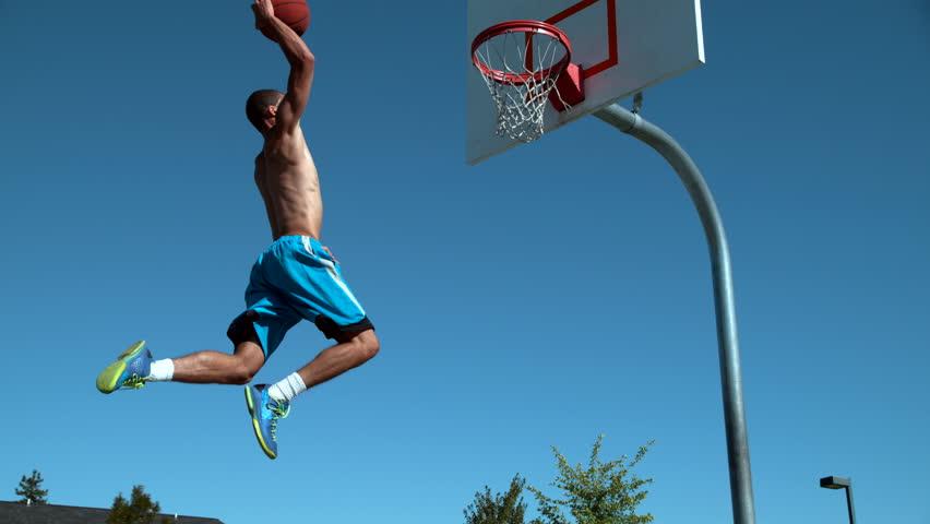 Super slow motion shot of basketball basketball slam dunk, shot on Phantom Flex 4K | Shutterstock HD Video #20207899