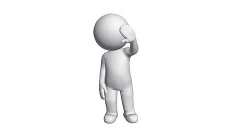 3D cartoon character say hello,comics people chat talking. cg_00623