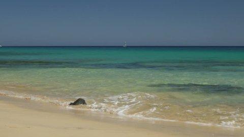 Crystal Clear Water on a Spanish Beach, Fuerteventura, Canary Islands