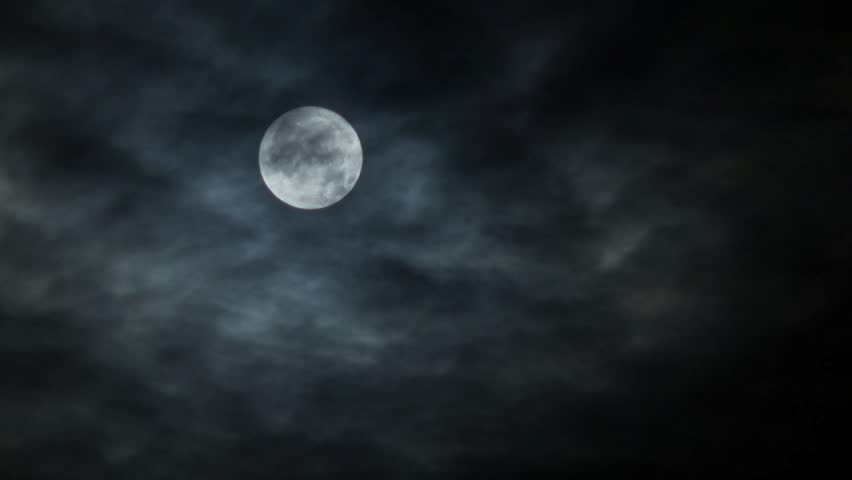 A scary moon time lapse on a cloudy night | Shutterstock HD Video #20310001