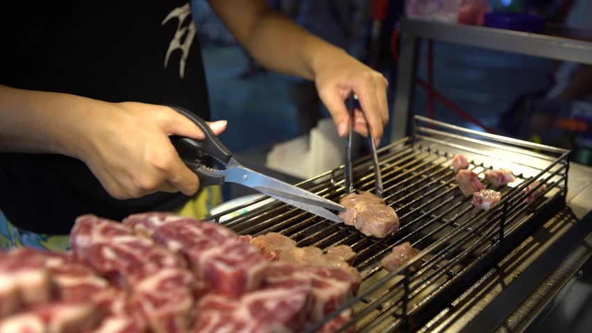 Asian meat street video