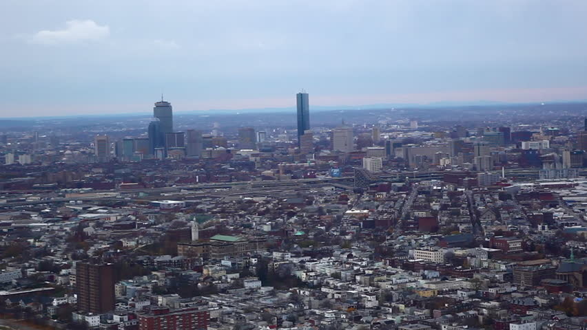 Aerial view of Boston metropolitan area