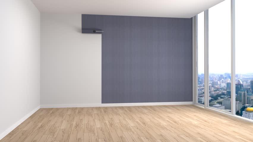 Building Up Modern Living Room 3d Illustration