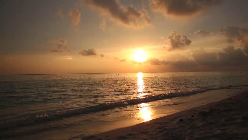 Sunset on the beach  | Shutterstock HD Video #20384857