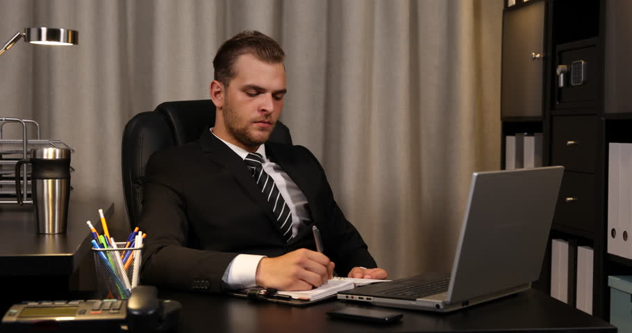 Tired Businessperson Talking Phone Business Man Partner Discussion ...