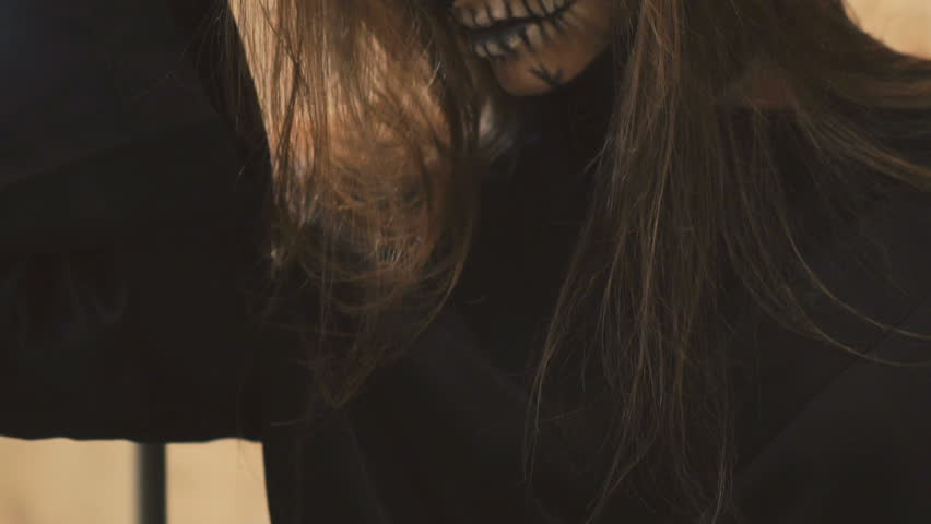 Sexy devilish female vampire flirting with the camera | Shutterstock HD Video #20415277