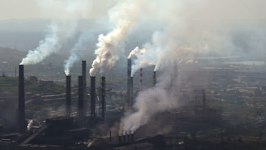 Industry Pipes Pollute the Atmosphere With Smoke #20428117