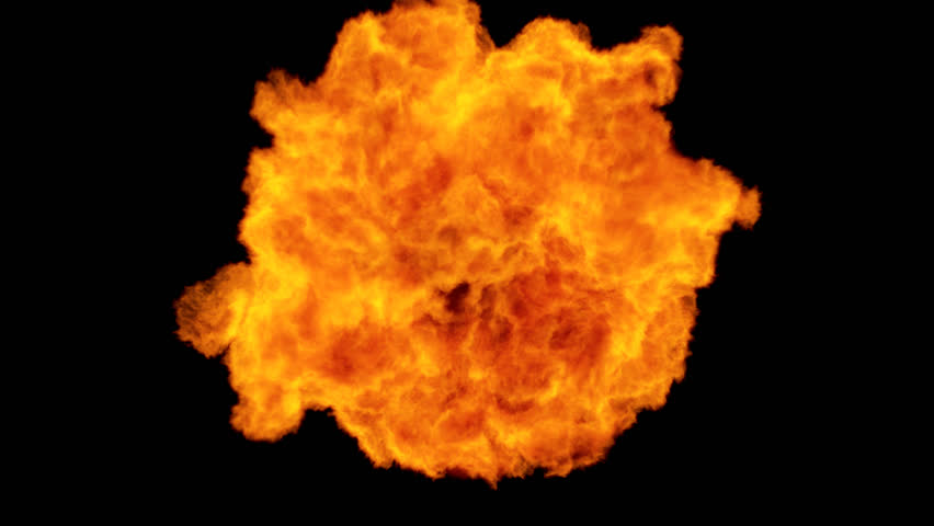 High Speed Fire ball explosion towards to camera, cross frame ahead transition, slow motion fire flamethrower isolated on black background with alpha channel, perfect for cinema, digital composition. | Shutterstock HD Video #20445730