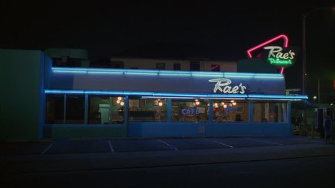 night Static Wide left Raes classic 50s style diner cafe neon