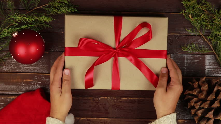 Christmas Top View.Top View Hands Unwrapping Christmas Stock Footage Video 100 Royalty Free 20502307 Shutterstock