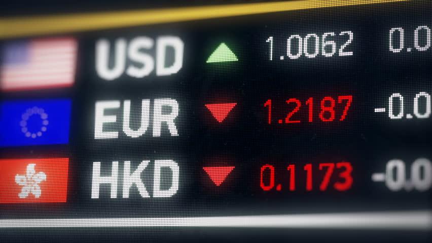 Hong Kong, US dollar, Euro comparison, currencies falling, financial crisis. World currencies plummet down, financial crisis, stock market crash   Shutterstock HD Video #20522059