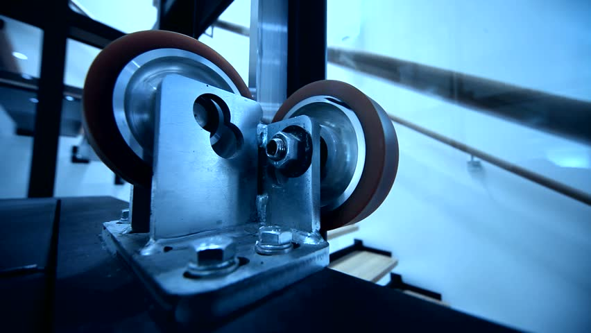 video footage of rollers in elevator