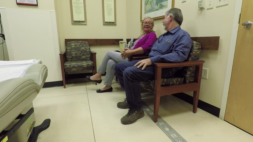 Husband in waiting room 2 older doctor study wife 10