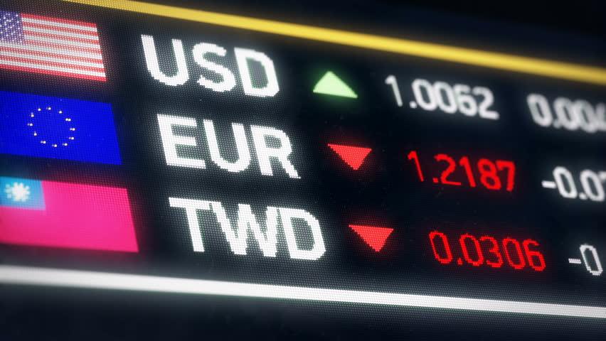 Taiwan dollar, US dollar, Euro comparison, currencies falling, financial crisis. World currencies plummet down, financial crisis, stock market crash | Shutterstock HD Video #20575507