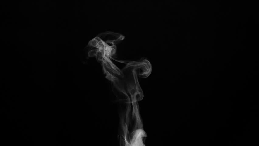 Cup of Hot Drink and a Light Steam. White steam rises light, graceful twists on a black background. Shooting at a rate of 240fps. Footage is perfect for the top layer with different blending modes #20691367