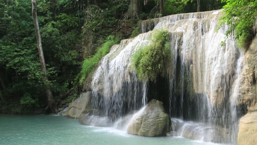 Erawan Wateralls : Kanchanaburi Province ; THAILAND #20700127