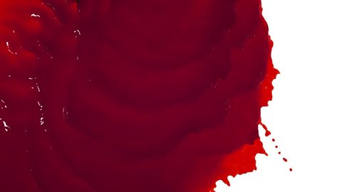 red liquid flows and fills the screen slow motion. tinted oil