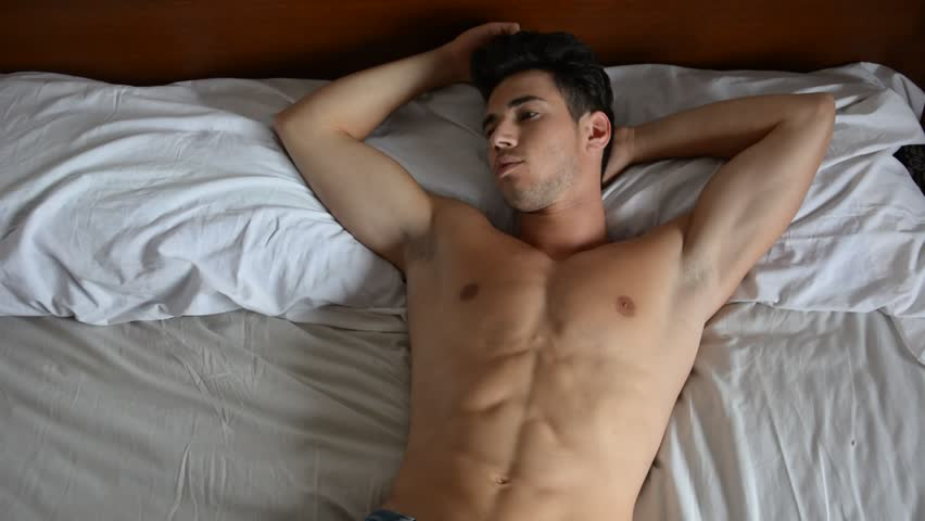 Shirtless Sexy Male Model Lying Stock Footage Video 100 -6680