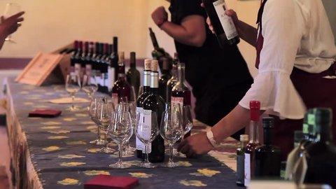 Wine tasting at the winery in Chianti region