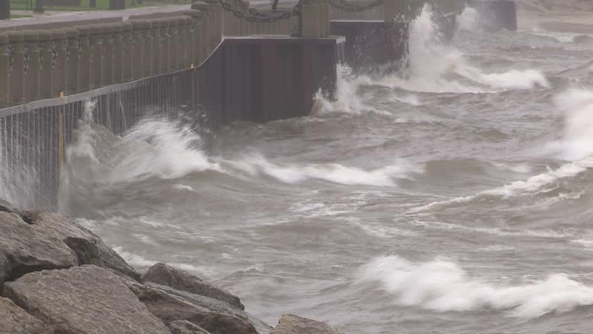 Big waves rolling in ahead of storm | Shutterstock HD Video #20904757