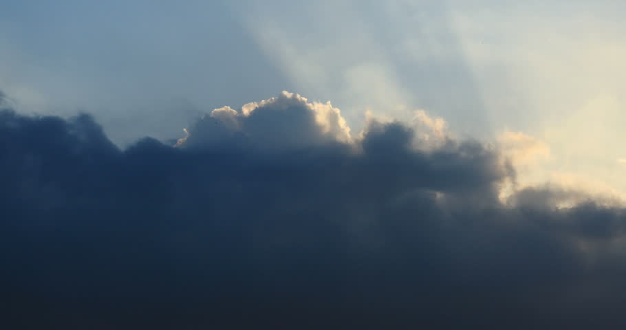 4k Panoramic of dark altocumulus clouds smoke slowly flying in cloudy sun ray sky timelapse.high cumulus cloud,mackerel sky. gh2_08557_4k